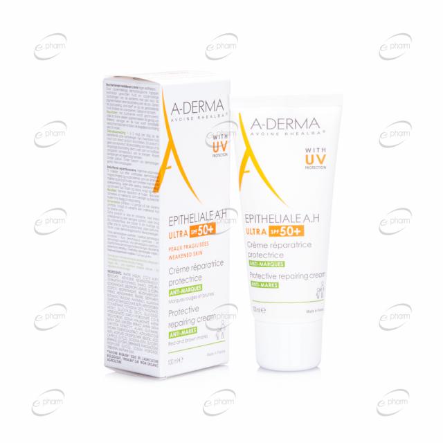 A-DERMA EPITHELIALE A.H ULTRA SPF 50+ възстановяващ, защитаващ крем с UV защита