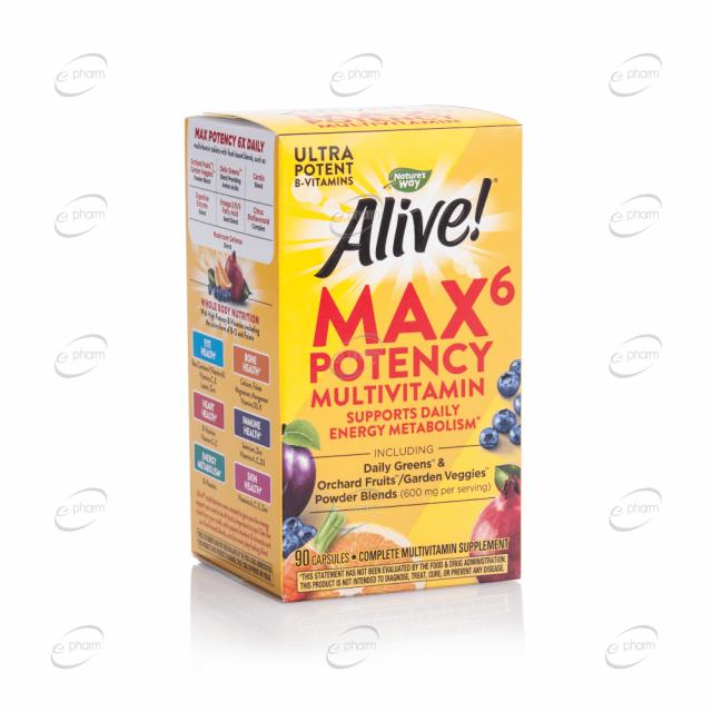 Alive MAX 6 Potency мултивитамини