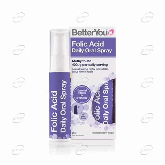 Folic Acid Daily Oral Spray BetterYou