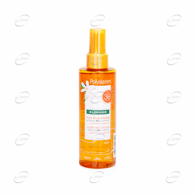 KLORANE Polysianes слънцезащитно олио SPF 30