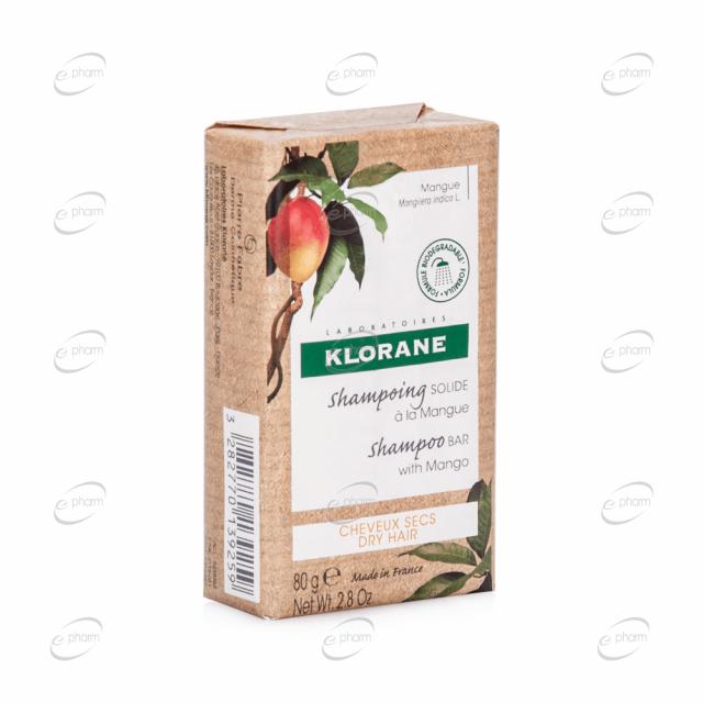 KLORANE твърд шампоан с манго
