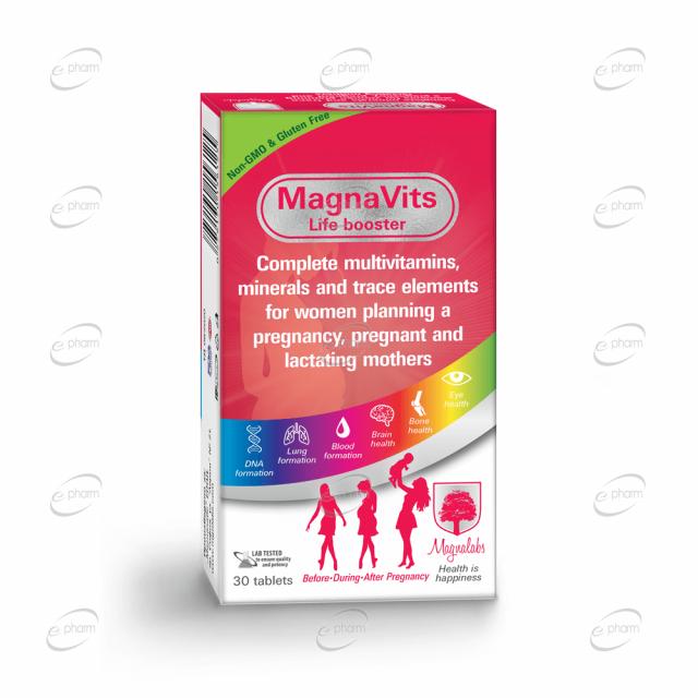 MAGNAVITS за жени, планиращи бременност, бременни и кърмещи майки Magnalabs