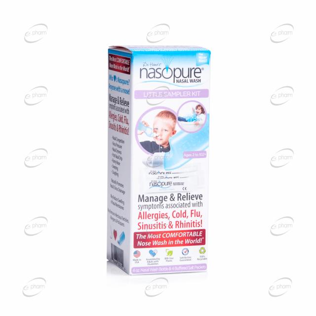 NASOPURE комплект за носни промивки за деца