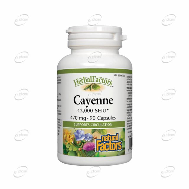CAYENNE капсули Natural Factors