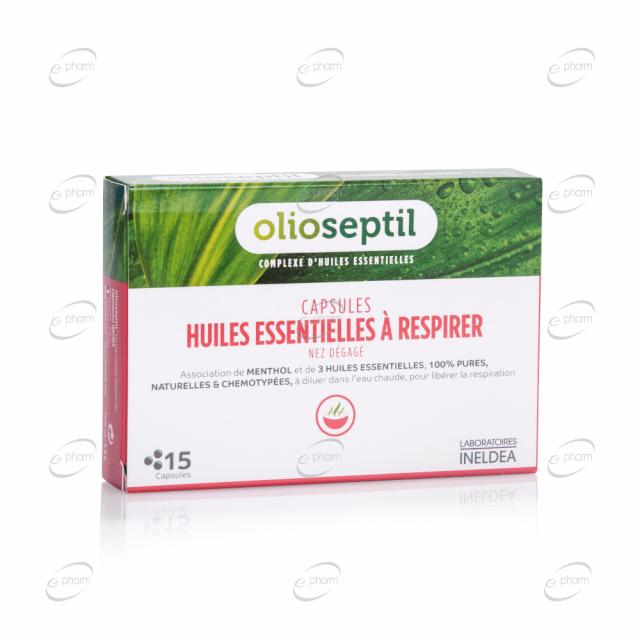 HUILES ESSENTIELLES À RESPIRER капсули с етерични масла за инхалация Olioseptil