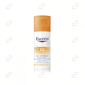 Eucerin Слънцезащитен гел-крем за лице за мазна кожа SPF 50+