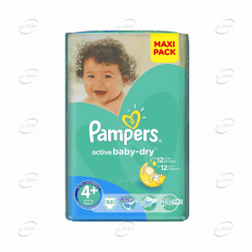 Pampers Active baby-dry №4+