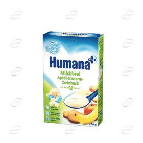 Humana Млечна каша с ябълка, банани и сухар