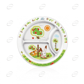 AVENT Порционна чиния - 12м+