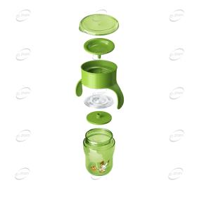 AVENT Преходна чаша 360° с дръжки 18м+